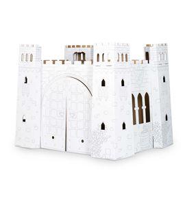 Casa de juego de cartón, castillo - 10017