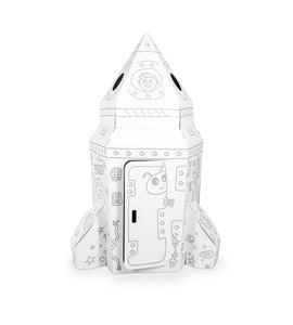 Casa de juego de cartón, cohete - 10018