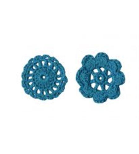 Artemio ganchillo flores turq - 13080003
