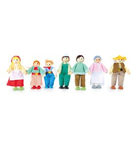 Muñecos flexibles, granja - 10046