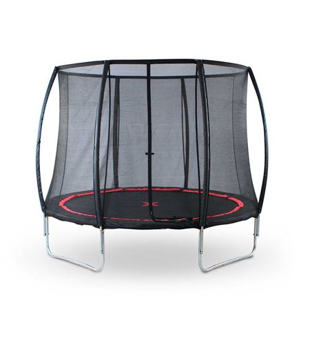 Cama elástica con red de seguridad, black spider - 10063