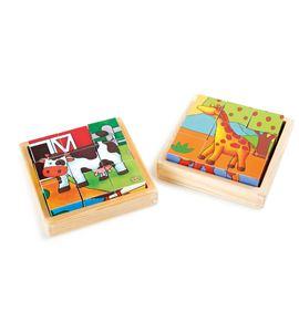 Puzle de cubos granja & zoo - 10076