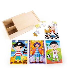 Caja de puzles 4 en 1, niños disfrazados - 10172
