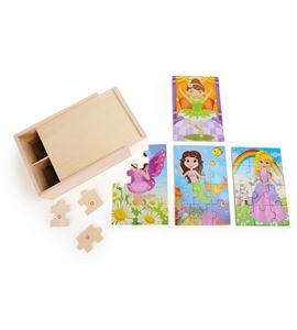 Caja de puzles 4 en 1, niñas disfrazadas - 10173