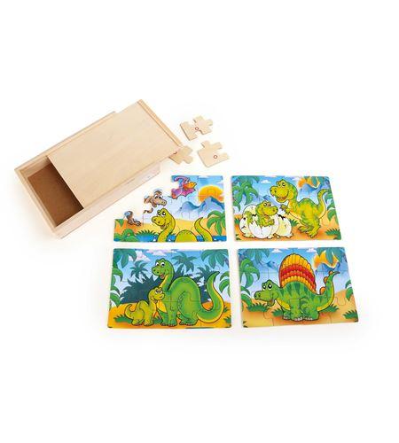 Caja de puzle 4 en 1, dinosaurios - 10174