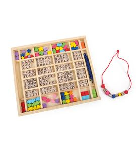 Perlas para ensartar en caja abc - 10175