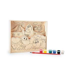 """Imágenes para colorear de madera, """"mis primeros dinosaurios"""" - 10180"""