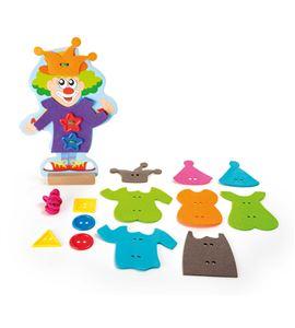 Muñeco para vestir y ensartar ´payaso´ - 10184