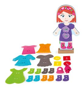 Muñeca para vestir y ensartar, niña - 10185