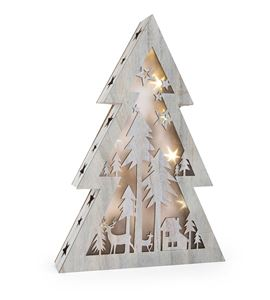 Árbol de navidad iluminado shabby chic, grande - 10200