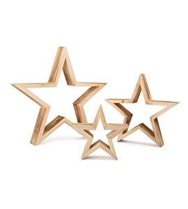 Estrellas decorativas, natural - 10213