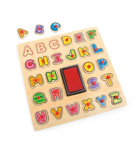 Puzle con sellos abc - 10218