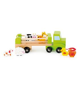 Vehículo de transporte para animales de madera - 10317