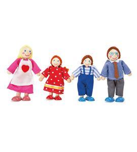 Muñecos flexibles, familia - 10320