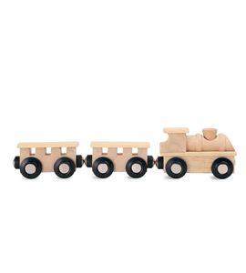 Tren de madera clásico, natural - 10333