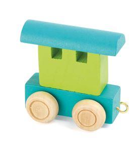 Tren de letras, vagón verde & turquesa - 10346