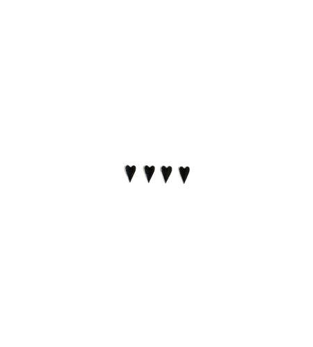 Brads para manualidades - corazones plateados - 11006428