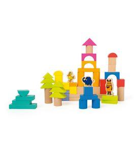 Bloques de madera con el elefante - 10497
