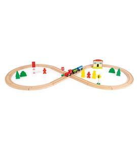 Tren de madera con estación de tren - 10503