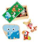 Caja de puzles animales salvajes del zoo