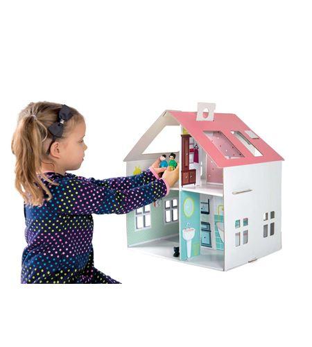 Casa de muñecas de cartón para pegar - 10761