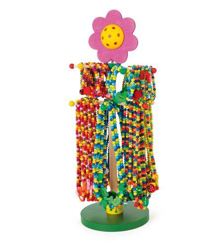 Display joyas de madera motivos coloridos - 10787