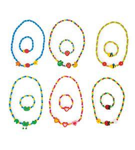Set de joyas motivos coloridos - 10795