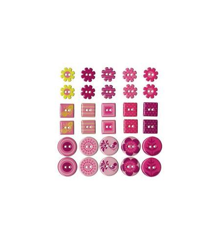 Botones de epoxy - rosa - 11006352