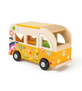 Bus de madera, hippie - 2744