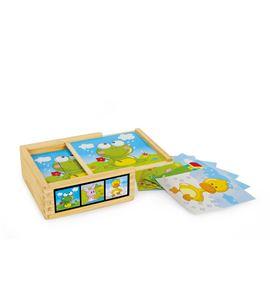 """Puzzle de cubos """"animales"""" - 3468"""