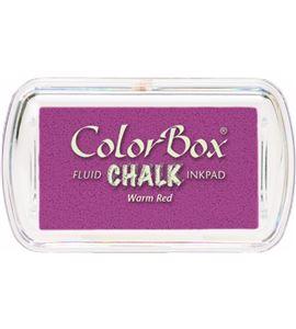 Tampón de tinta mini colorbox chalk - warm red - CL71217