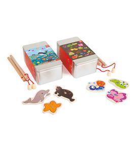 Juego de pesca en caja metálica - 4339