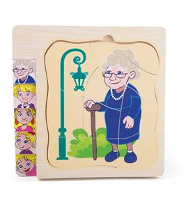 Puzle a capas la vida de la abuela - 4340