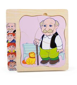 Puzle a capas la vida del abuelo - 4341
