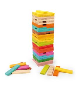 Bloques de madera de diseño colorido. - 4752