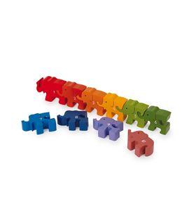 Puzle para encajar números, elefantes - 5297