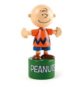Peanuts figura para apretar charlie brown - 5728