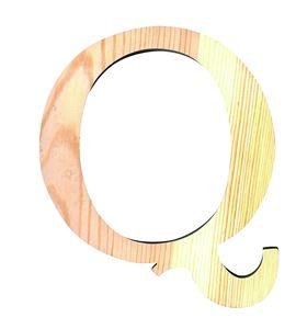 Letra madera pequeña q - 14001097