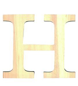 Letra madera grande h - 14001114