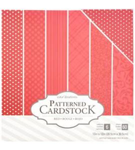 Pack de papel-cartulina - rojo - 379541