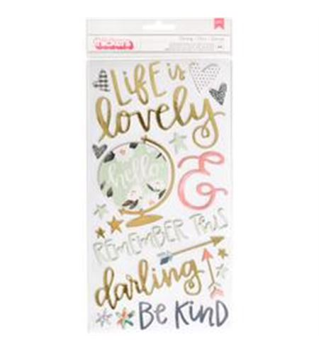 Set de stickers 3d - lovely - 376892