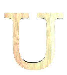 Letra madera grande u - 14001127