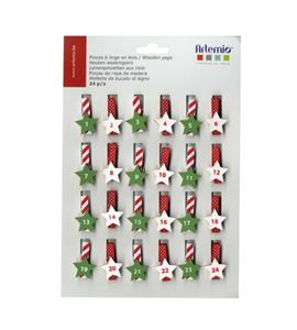Set de pinzas para calendarios de adviento - 14001973