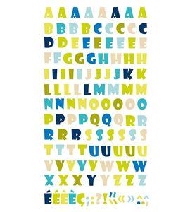Autoadhesivos 3d alfabeto natura multicolor - 11004244