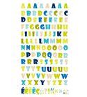 Autoadhesivos 3d alfabeto natura multicolor
