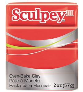Sculpey iii - red hot red 57gr. - 3583