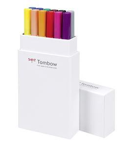 Dual brush rotulador pincel estuche 12 colores primarios - ABT-12P-1-4