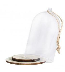 Campana de plástico decorativa - 6x9cm. - 46121000