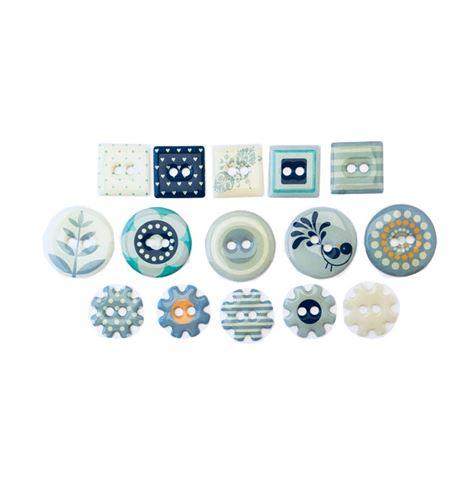 Botones de epoxy - blue - 11006351