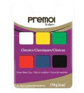 Estuche de arcilla premo - classics 6 x 28gr. - MPC6